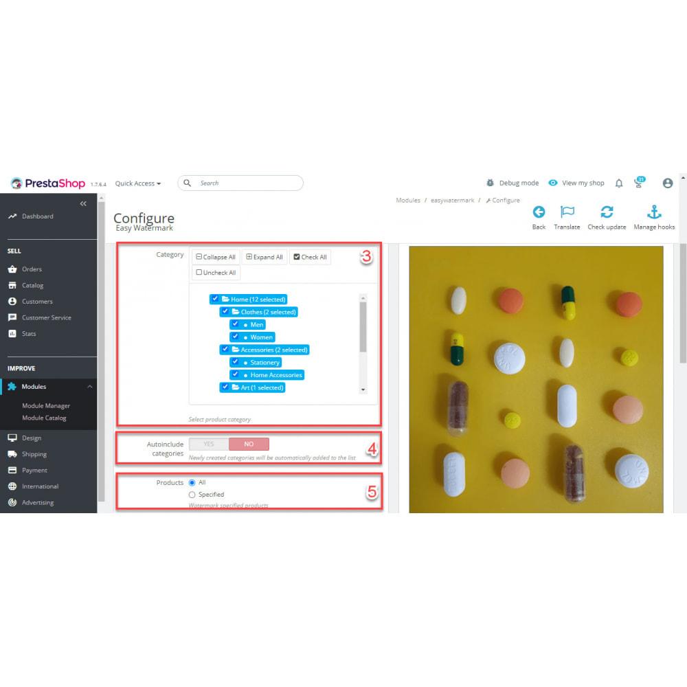 module - Visualizzazione Prodotti - Easy WaterMark PRO - 7