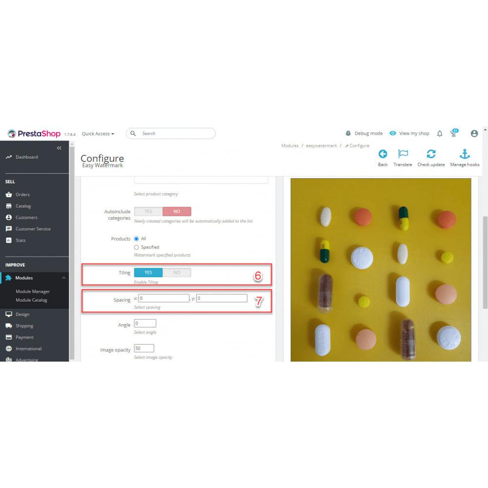 module - Visualizzazione Prodotti - Easy WaterMark PRO - 8