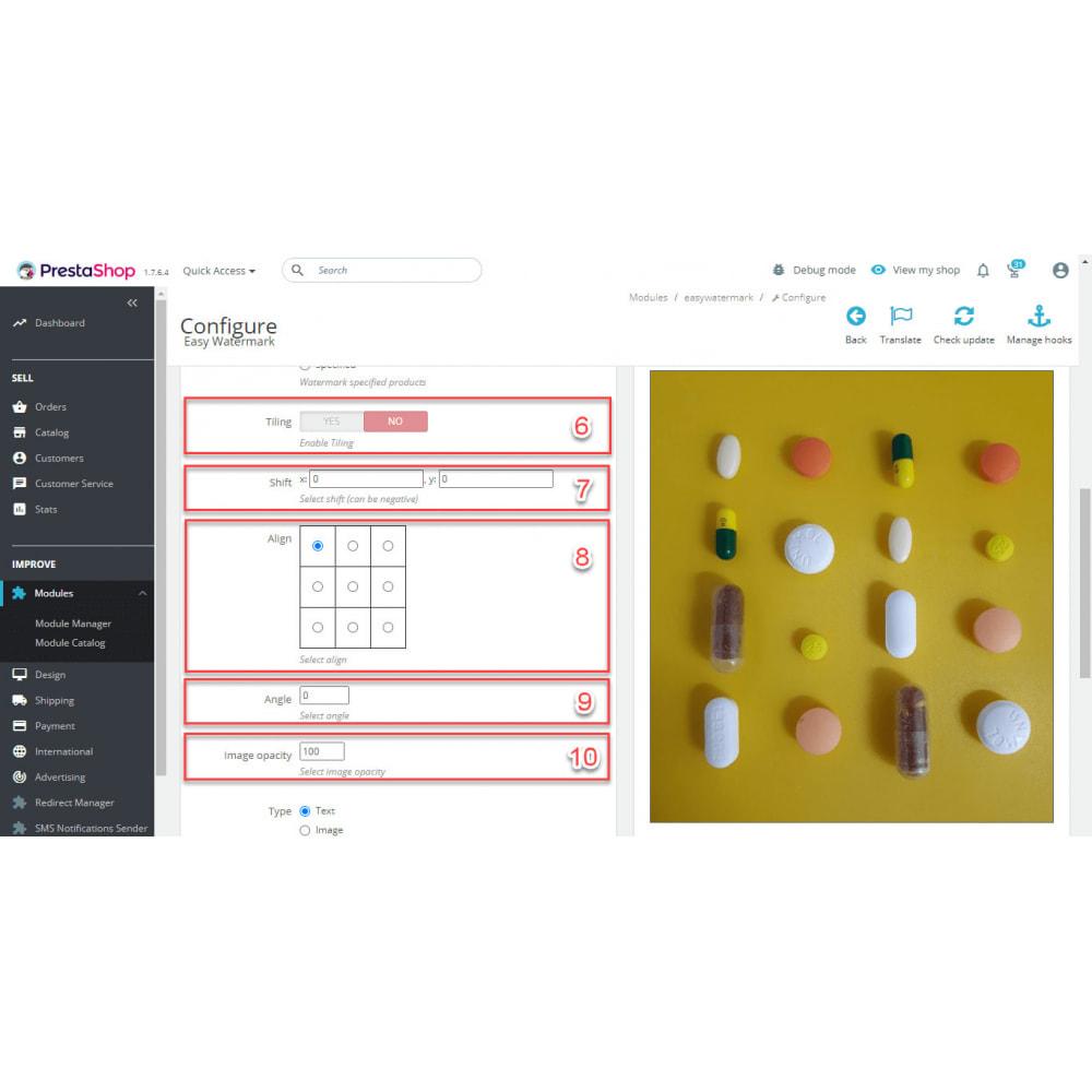 module - Visualizzazione Prodotti - Easy WaterMark PRO - 9