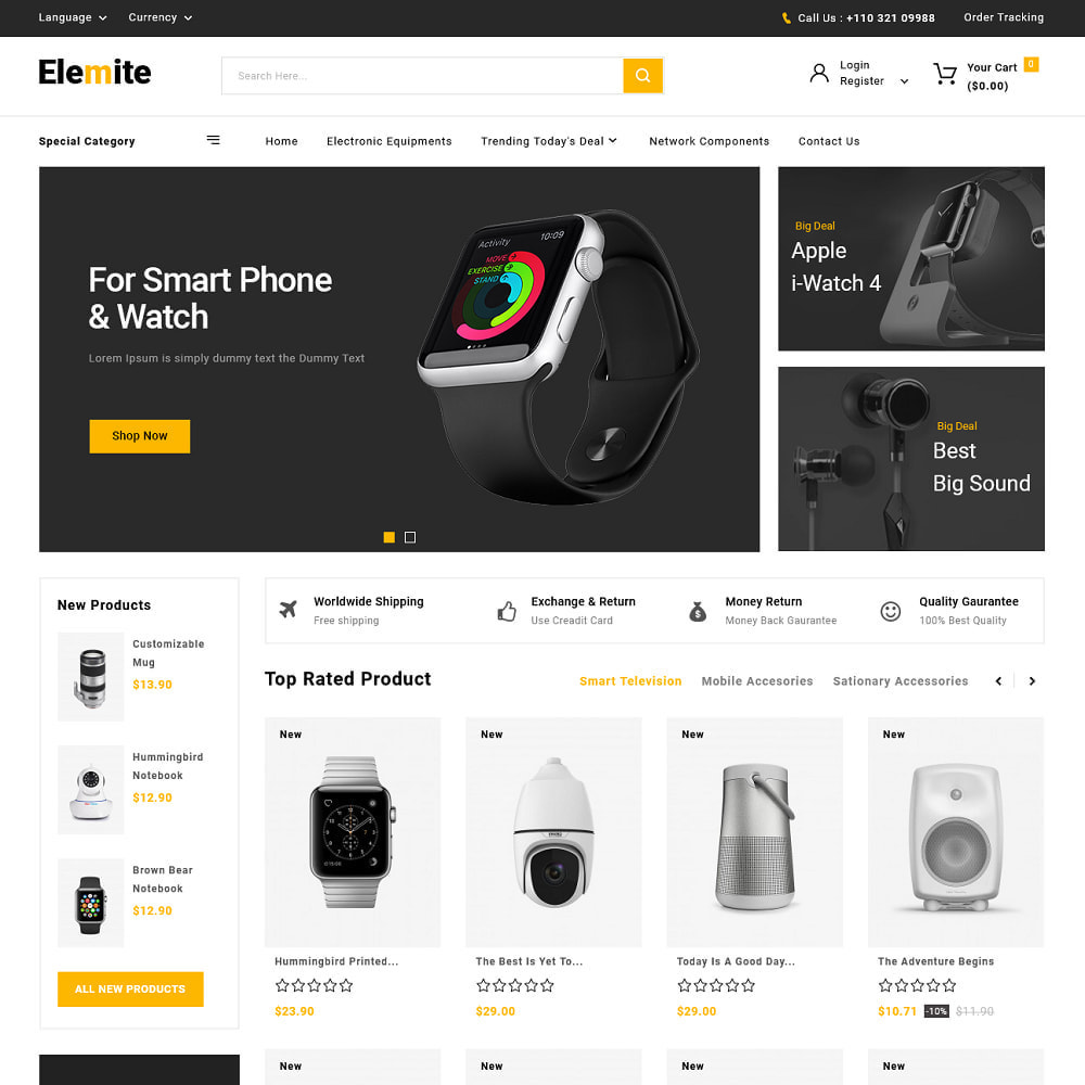 theme - Elektronika & High Tech - Shoptic - Electronic Store - 5