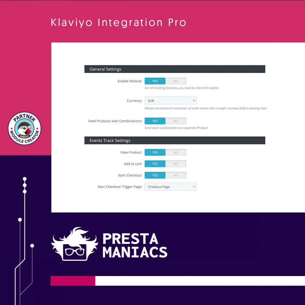 module - E-mails & Notifications - Klaviyo Integration Pro - 2