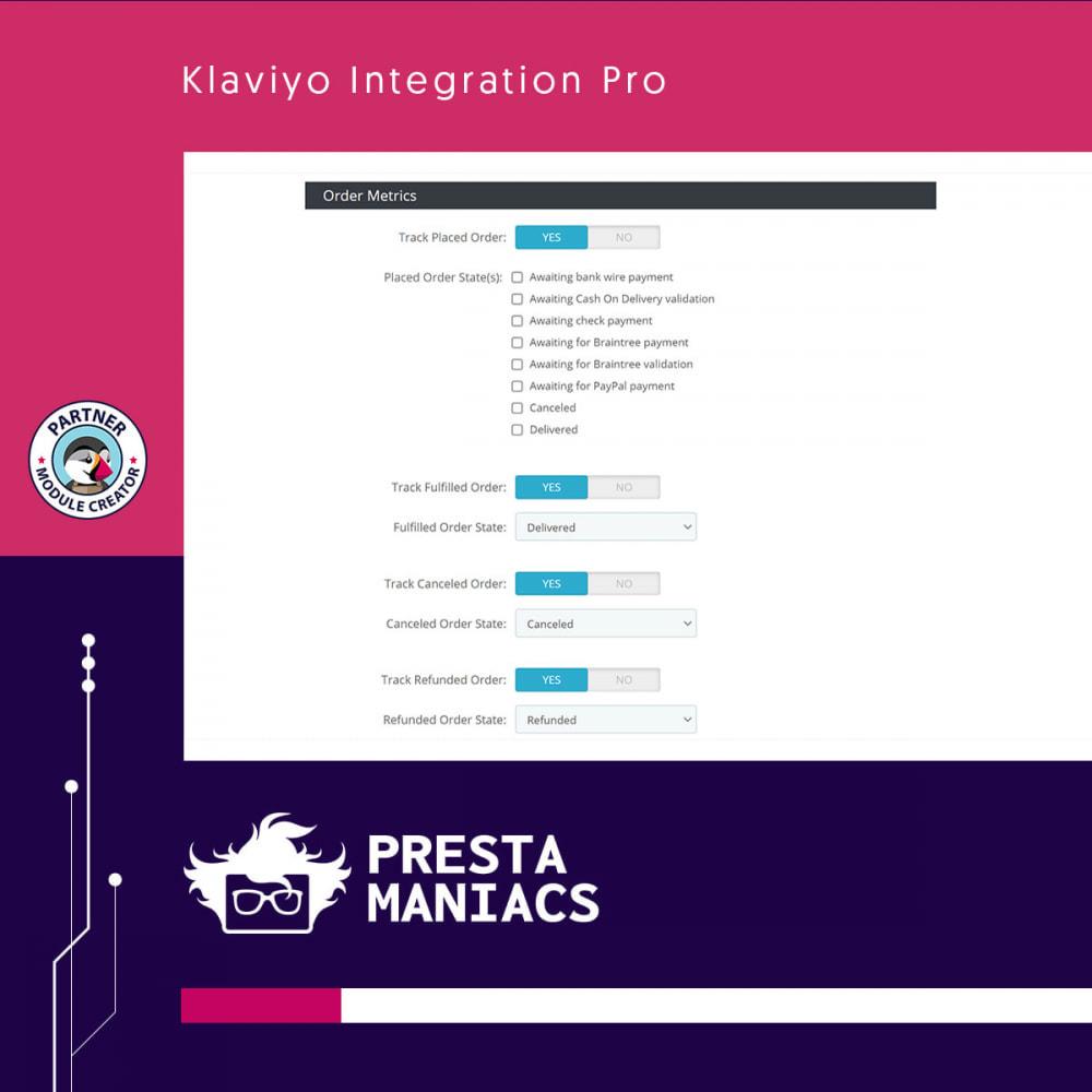 module - E-mails & Notifications - Klaviyo Integration Pro - 3