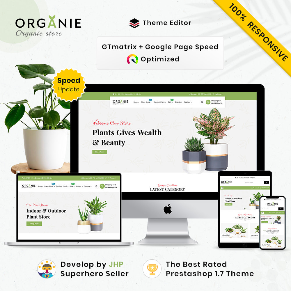 theme - Huis & Buitenleven - Organe Organic–Plant and Craft–Tools Store - 1