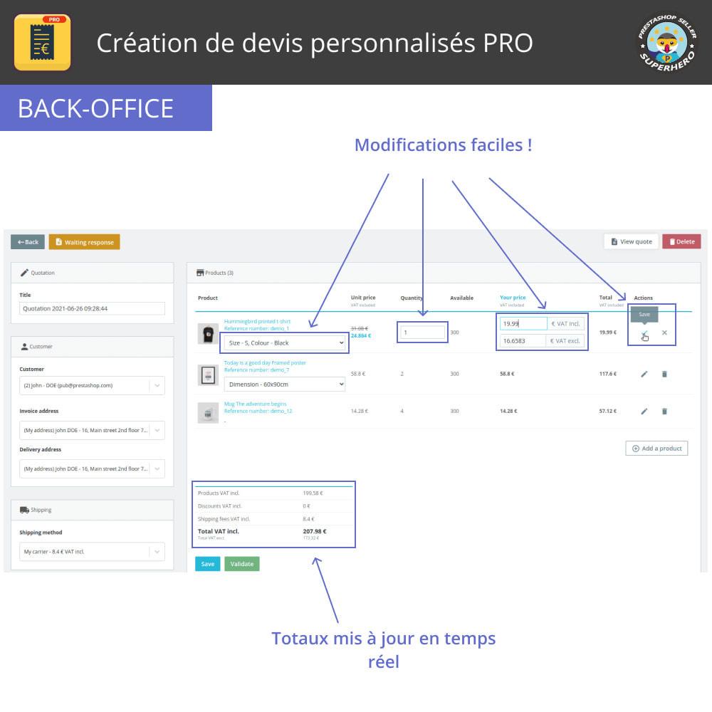 module - Devis - Création de devis personnalisés PRO - 5