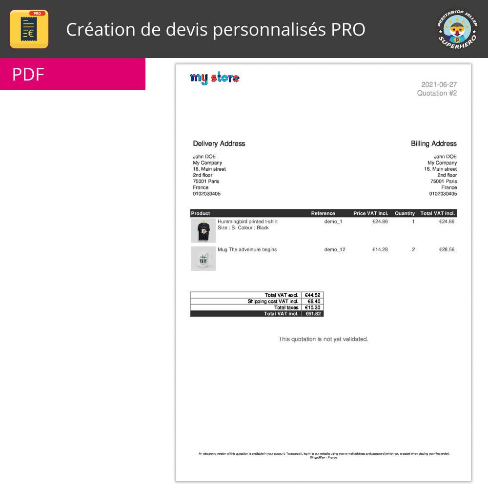 module - Devis - Création de devis personnalisés PRO - 6
