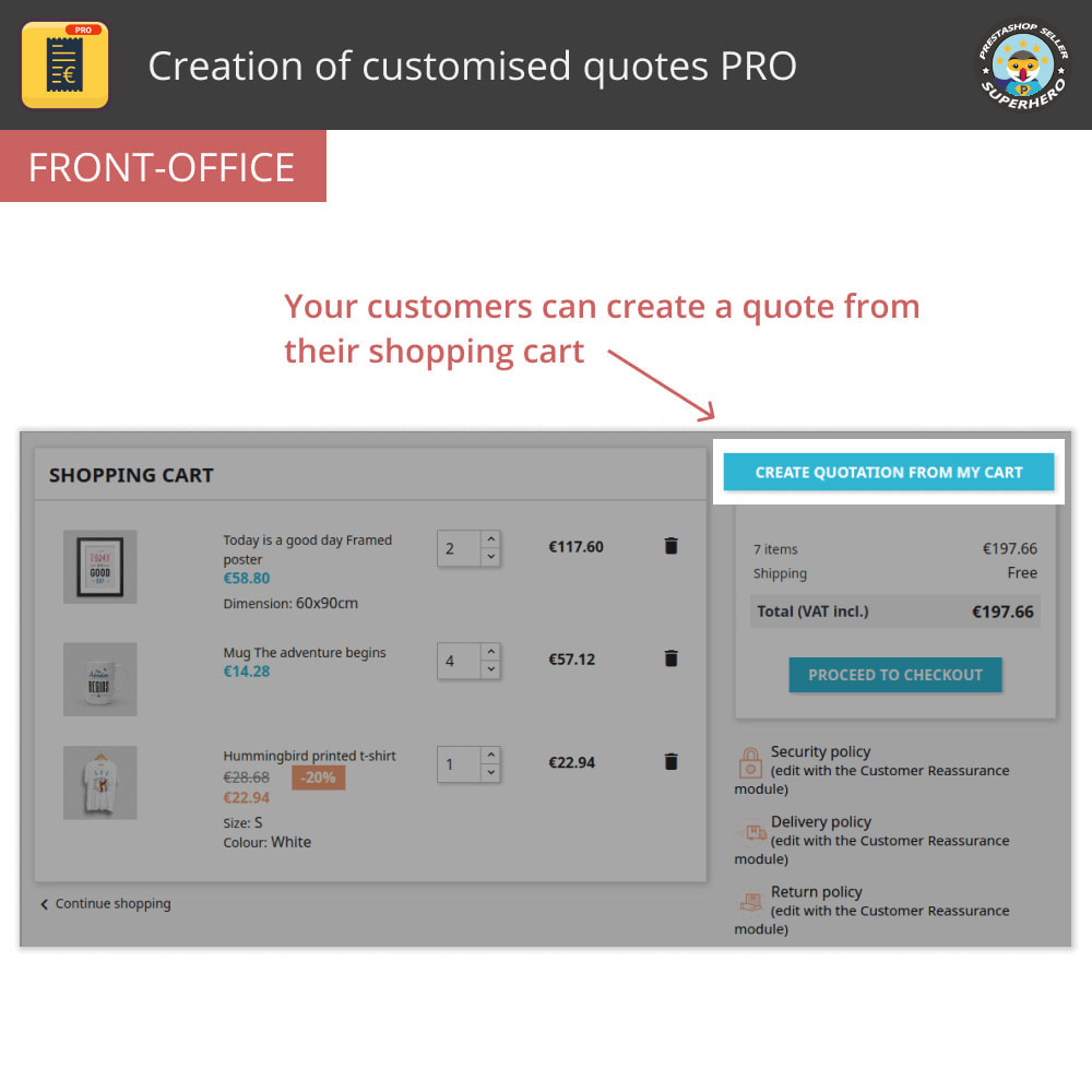 module - Quotes - Creation of customised quotes PRO - 1