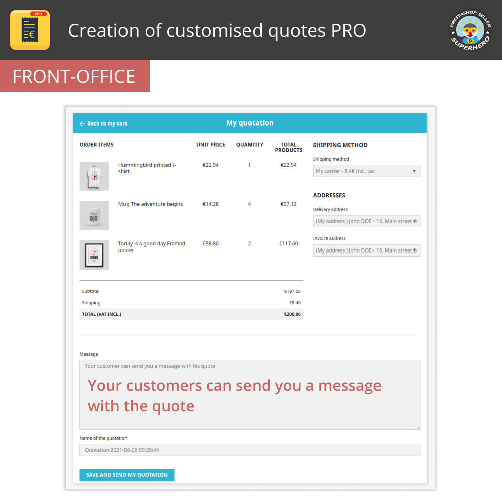 module - Quotes - Creation of customised quotes PRO - 2