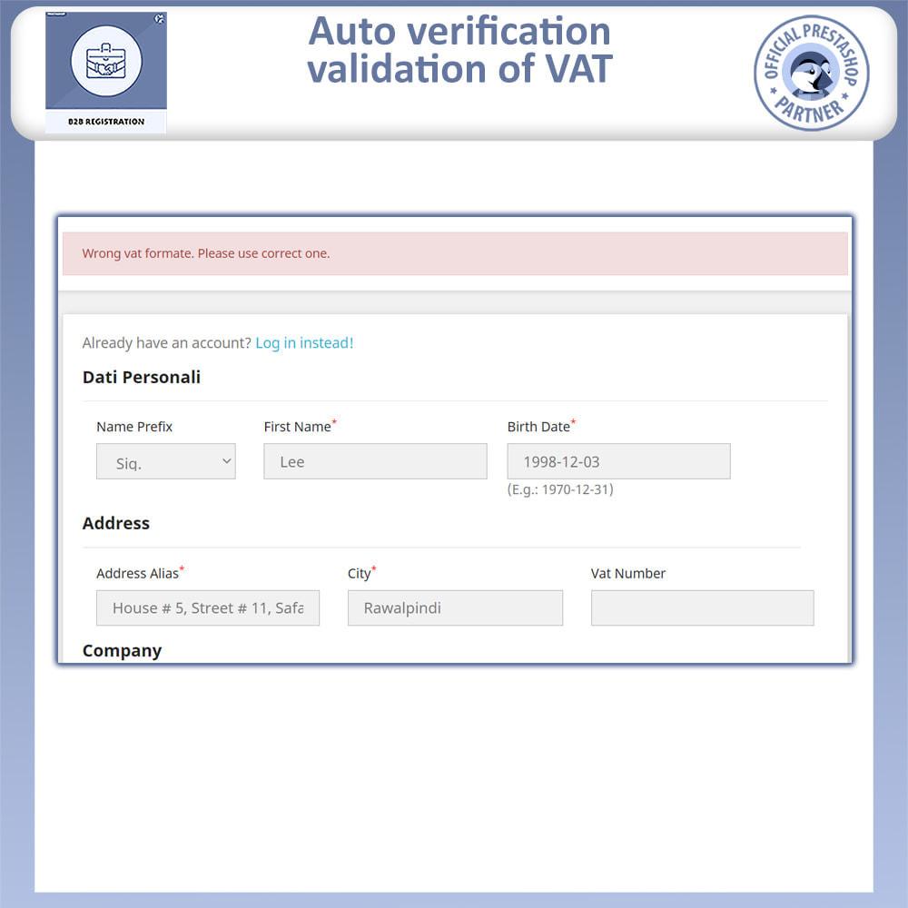 module - Registration & Ordering Process - B2B Registration | Advance B2B Registration - 6