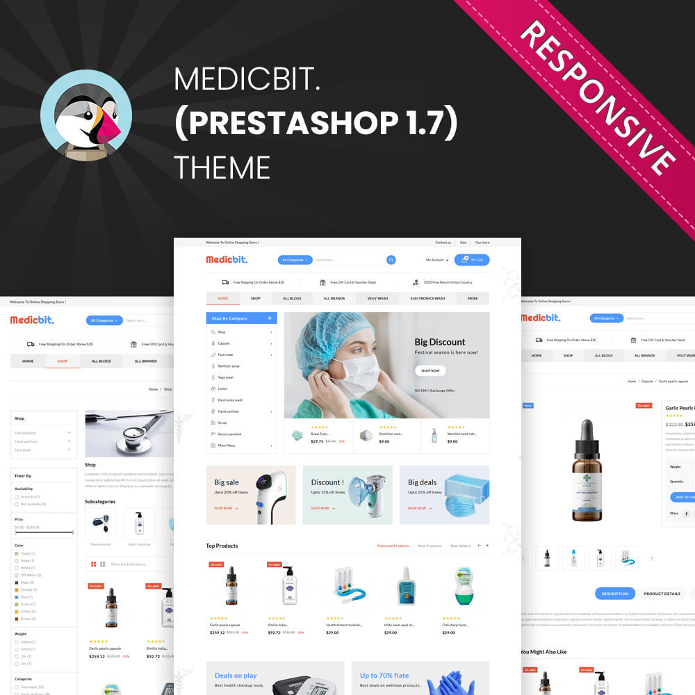 theme - Salute & Bellezza - Medicbit - Mega Medicine Store - 1