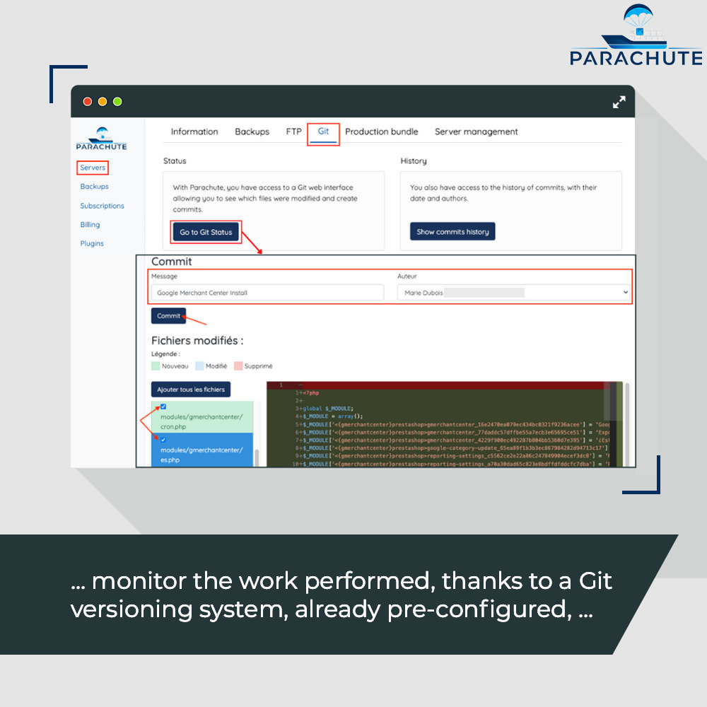 module - Инструменты администрирования - Parachute: on-demand staging environments - 7