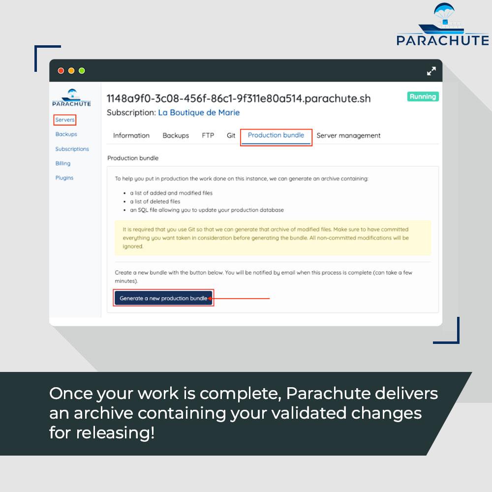 module - Инструменты администрирования - Parachute: on-demand staging environments - 10