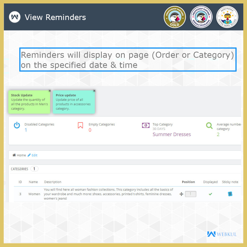 module - E-Mails & Benachrichtigungen - Sticky Notes for Orders and Categories - 7