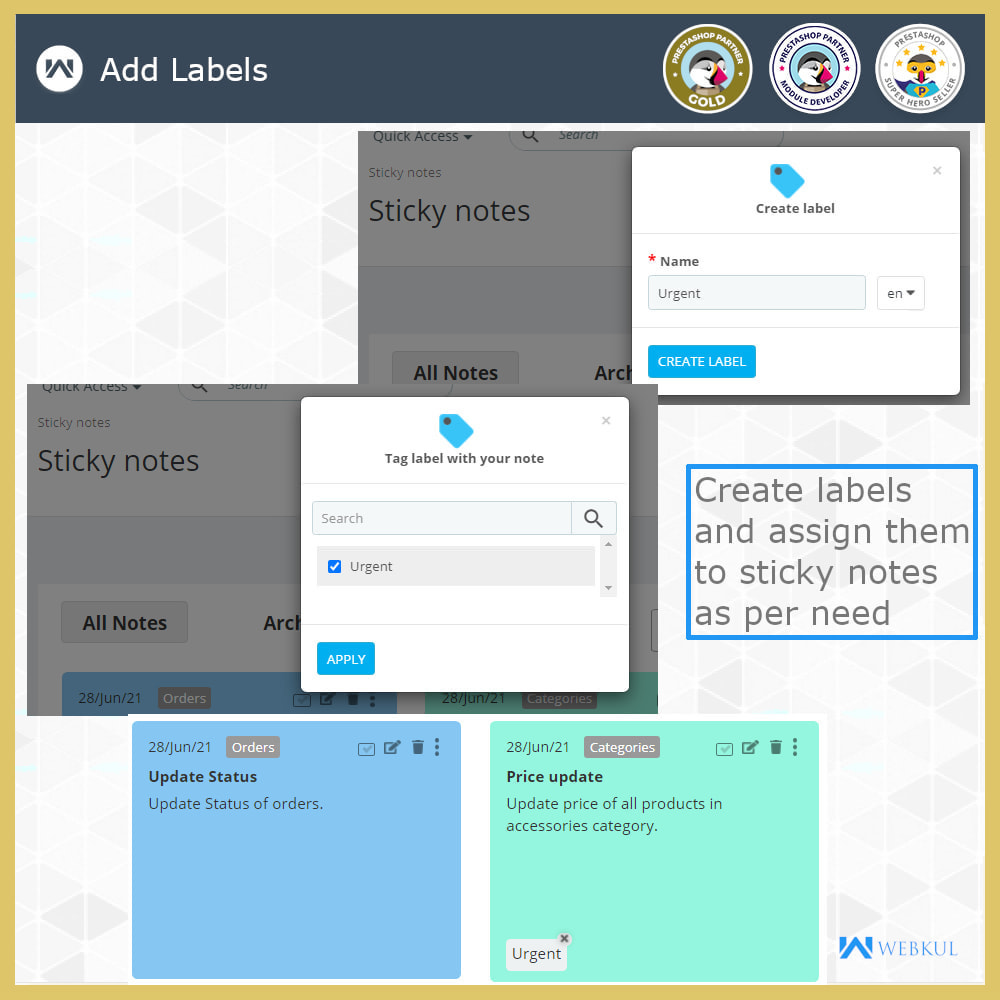 module - E-Mails & Benachrichtigungen - Sticky Notes for Orders and Categories - 8