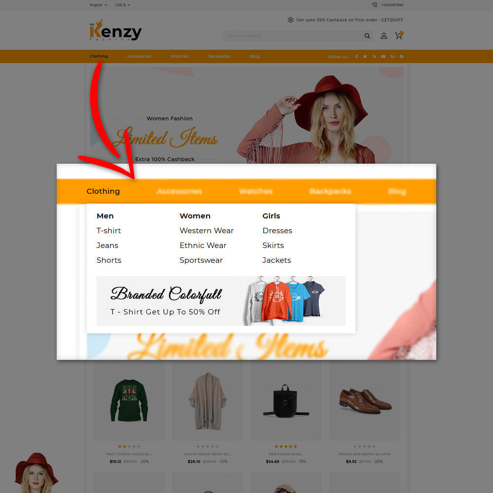 theme - Mode & Chaussures - Kenzy - Fashion Shop - 7
