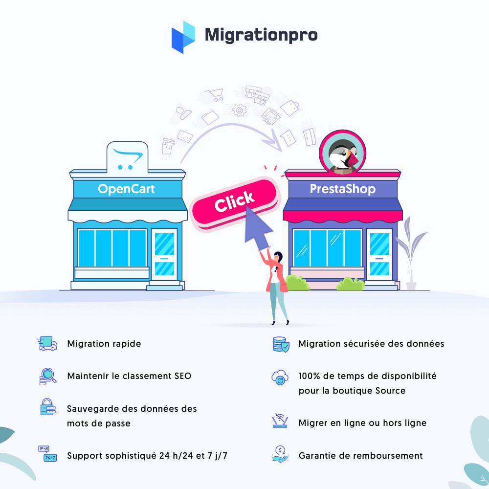module - Migration de Données & Sauvegarde - Outil de migration OpenCart vers PrestaShop - 1
