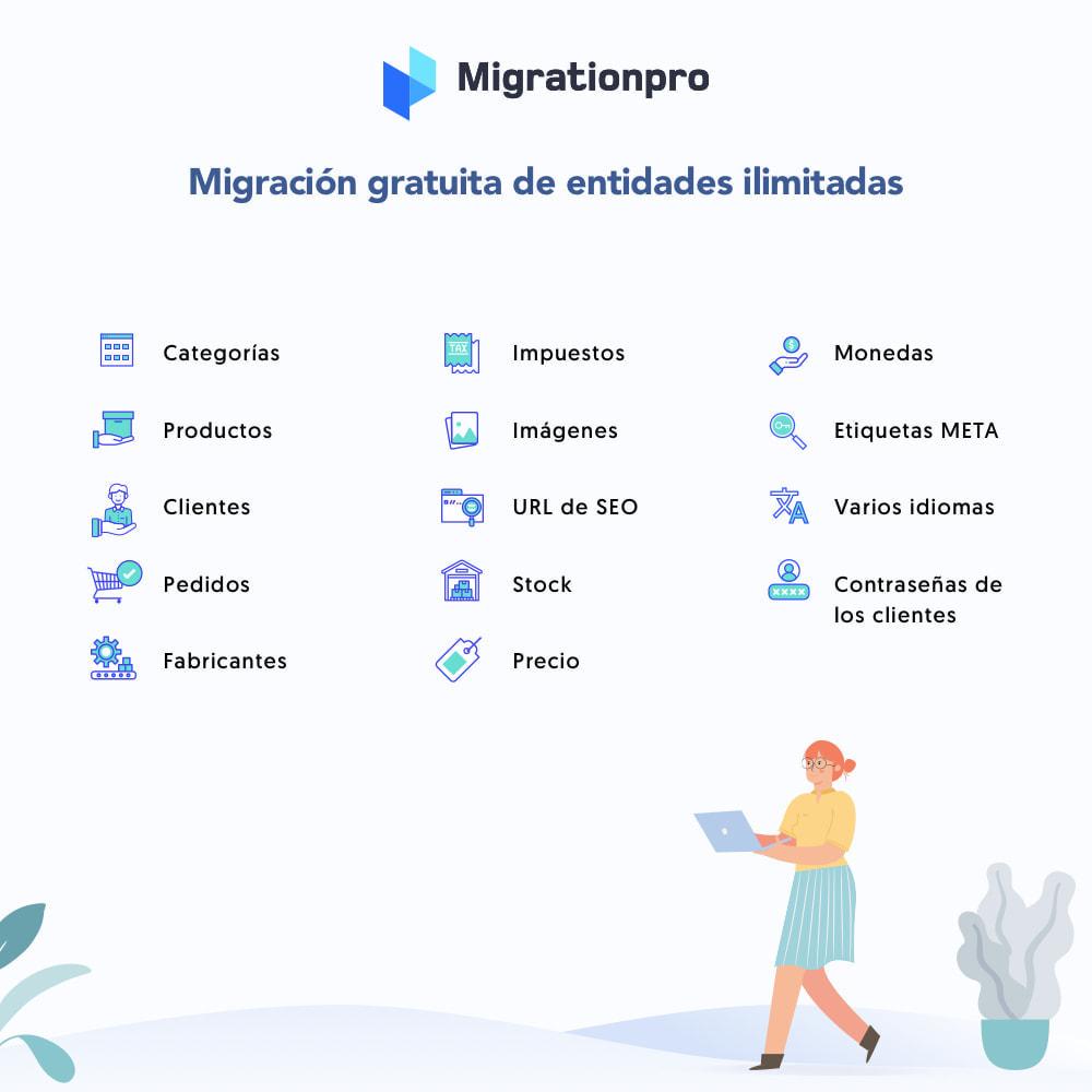 module - Migración y Copias de seguridad - Herramienta de migración de OpenCart a PrestaShop - 2