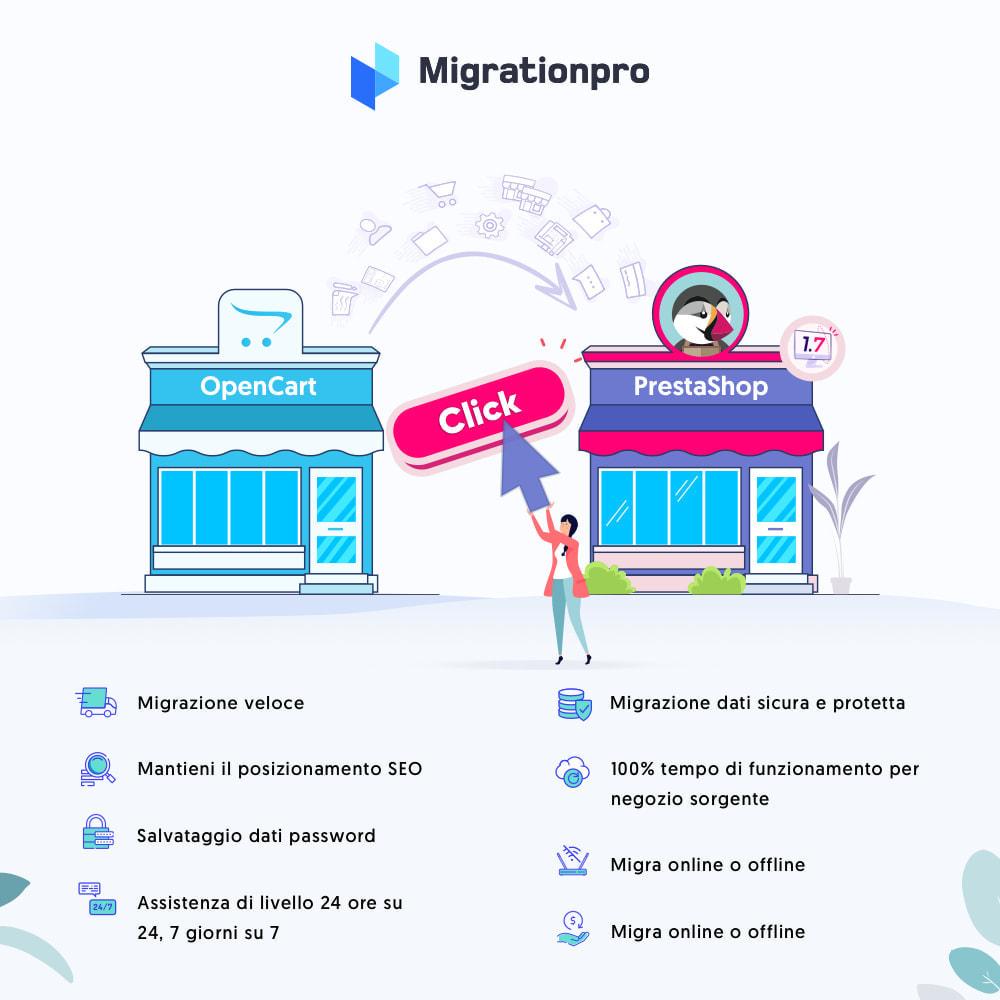 module - Data Migration & Backup - Strumento di migrazione da OpenCart a PrestaShop - 1