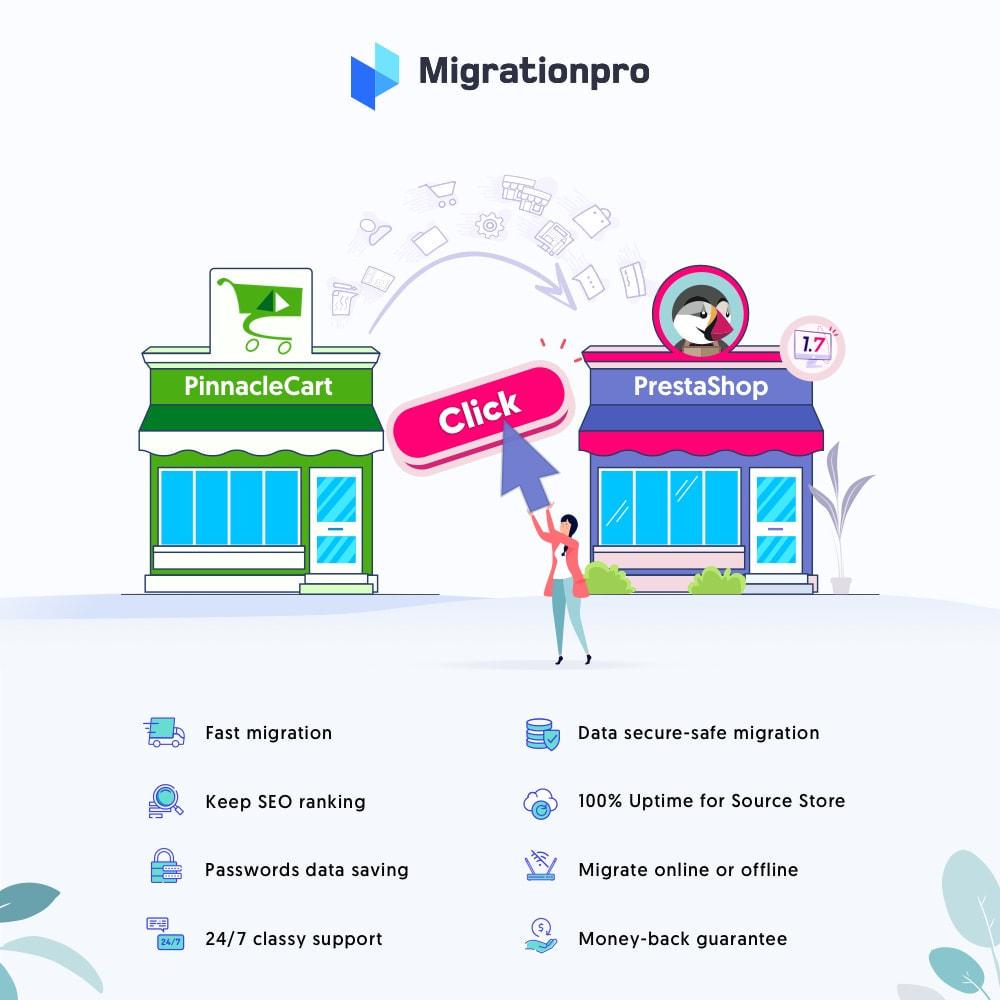 module - Migración y Copias de seguridad - MigrationPro: PinnacleCart to PrestaShop Migration tool - 1