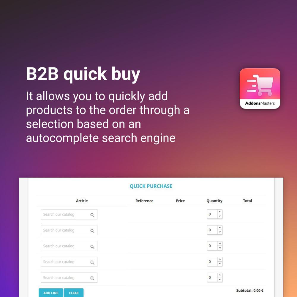 module - Express Checkout Process - B2B QUICK BUY - 1
