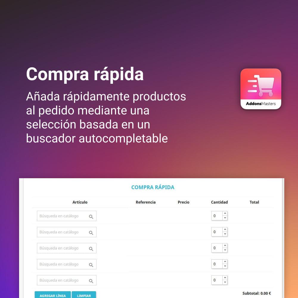 module - Proceso rápido de compra - COMPRA RAPIDA - 1
