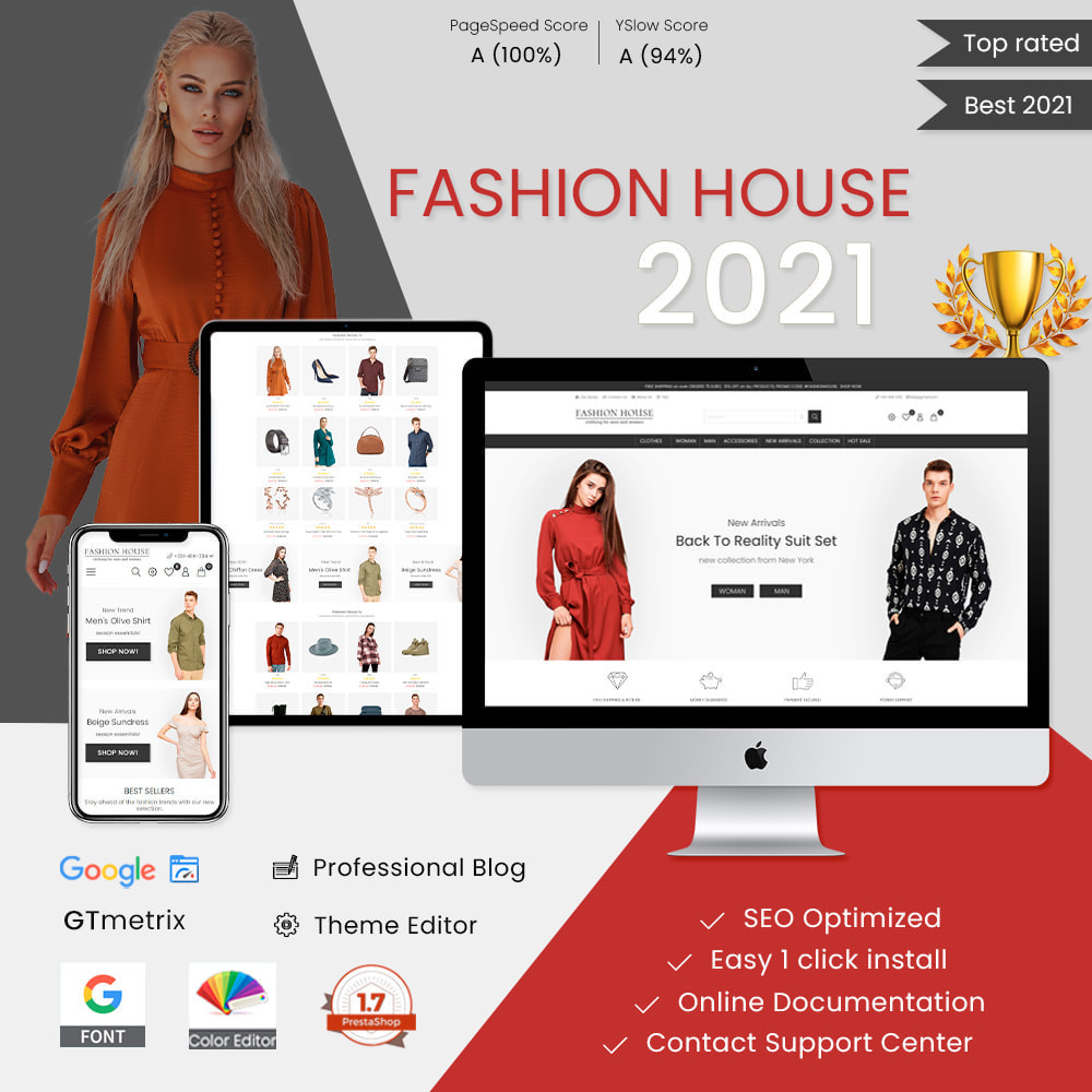 theme - Moda & Obuwie - Fashion House - Clothes & Shoes, Jewelry & Watch, Bags - 1