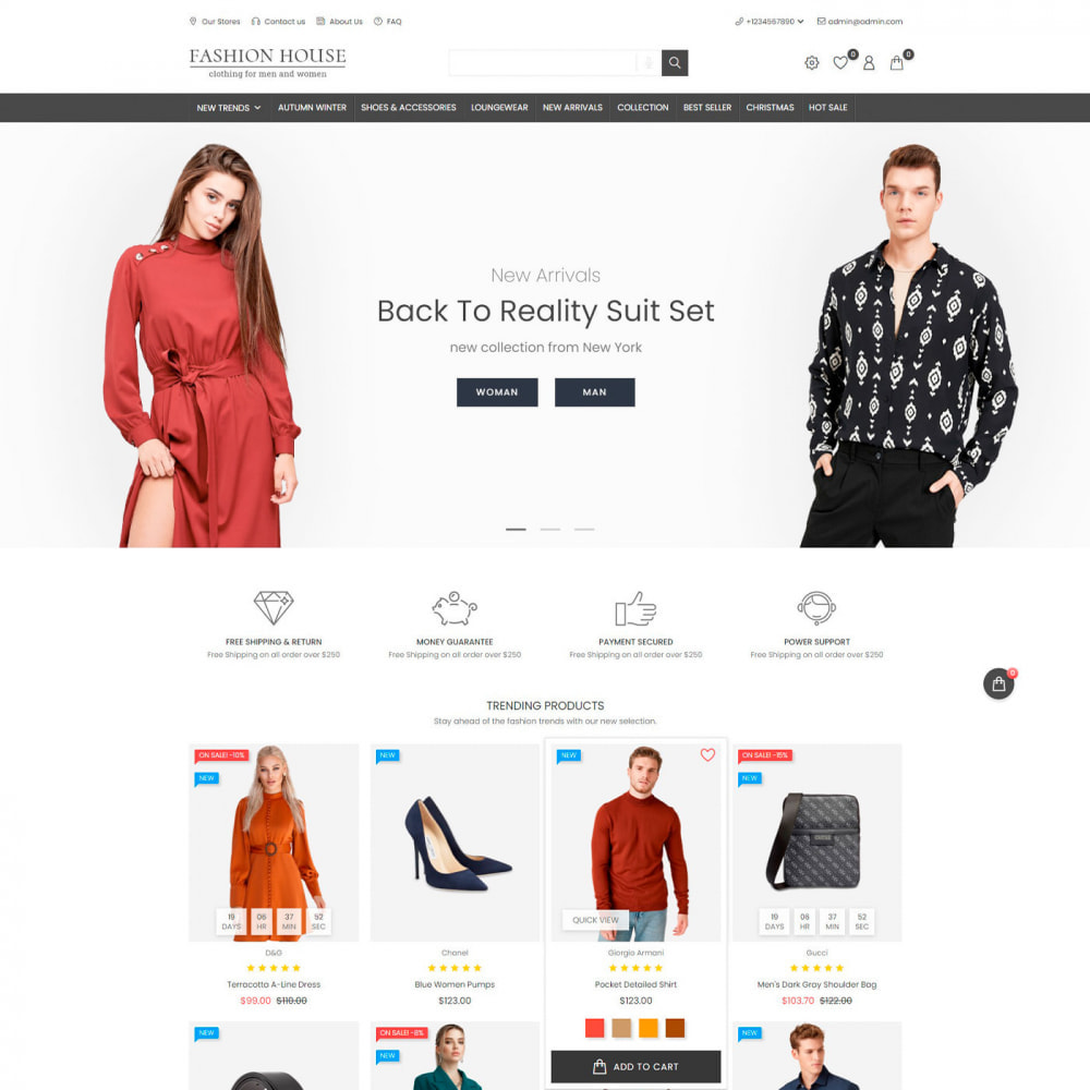 theme - Moda & Obuwie - Fashion House - Clothes & Shoes, Jewelry & Watch, Bags - 2