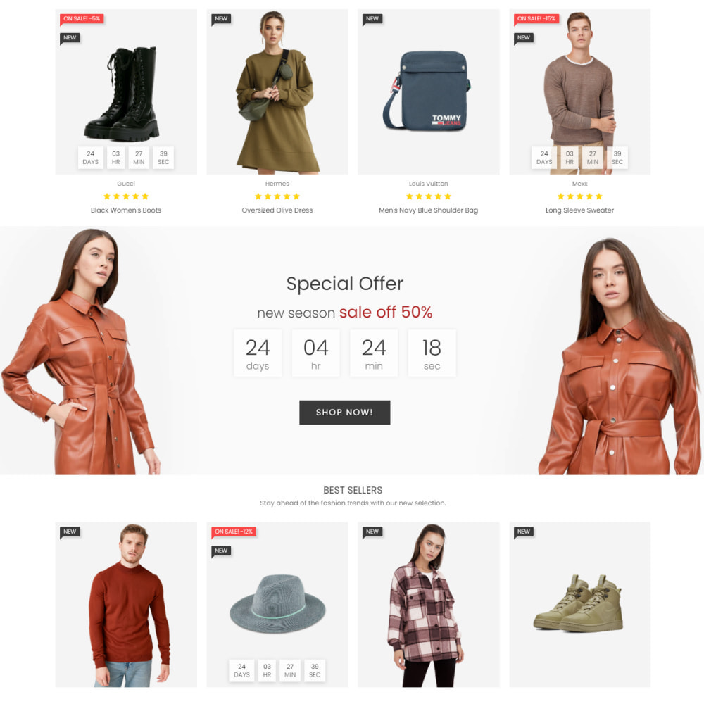 theme - Moda & Obuwie - Fashion House - Clothes & Shoes, Jewelry & Watch, Bags - 3