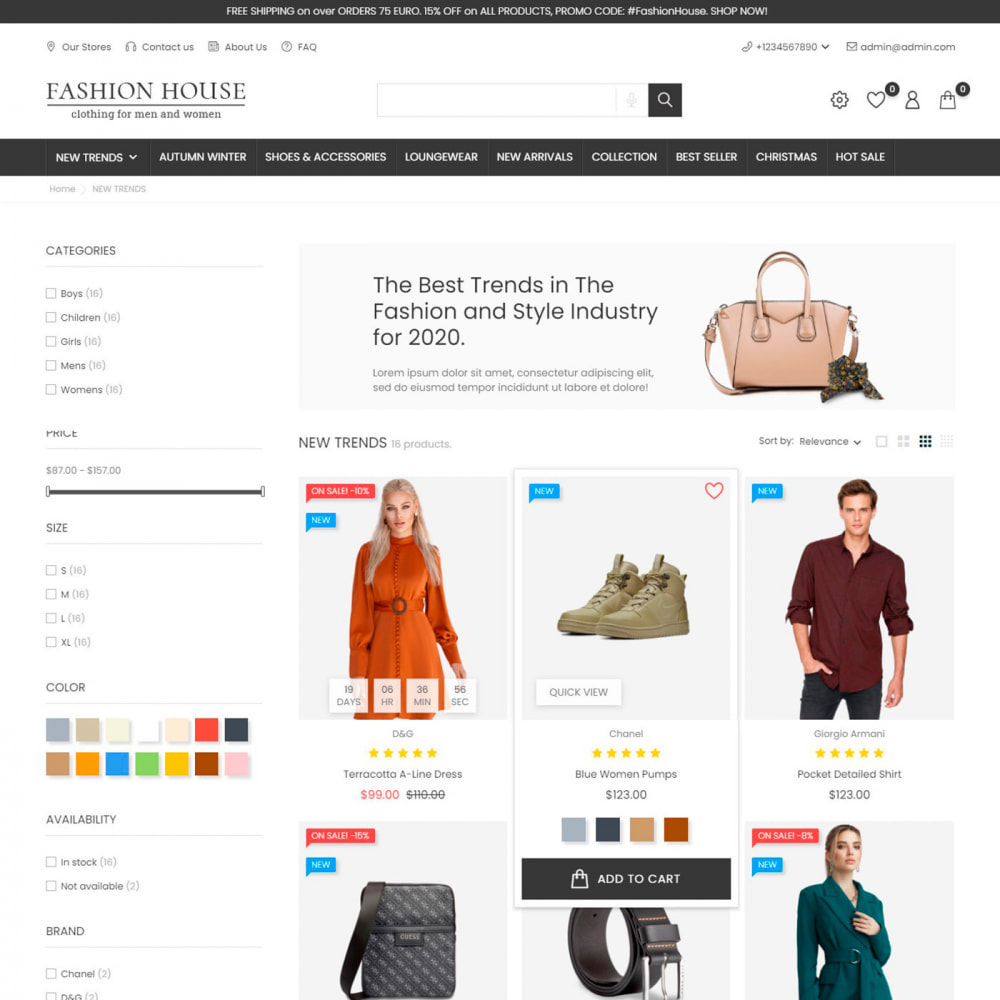 theme - Moda & Obuwie - Fashion House - Clothes & Shoes, Jewelry & Watch, Bags - 5