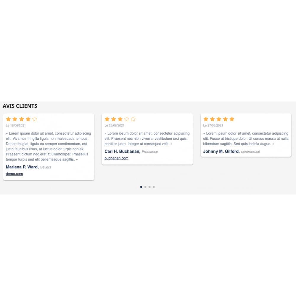 module - Отзывы клиентов - Personalized customer reviews - 3