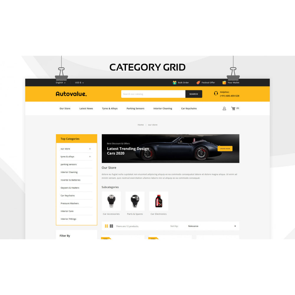 theme - Carros & Motos - Autovalue - The Autoparts Store - 4
