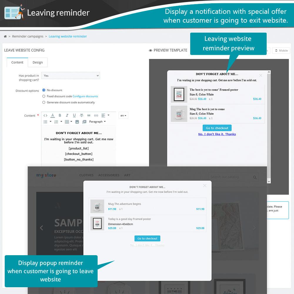 module - Remarketing & Achtergelaten winkelmanden - Abandoned Cart Reminder + Auto Email - 17