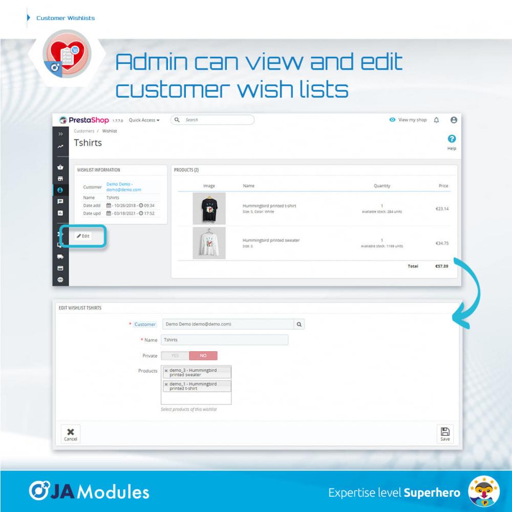 module - Wunschzettel & Geschenkkarte - Customer Wishlists - 9