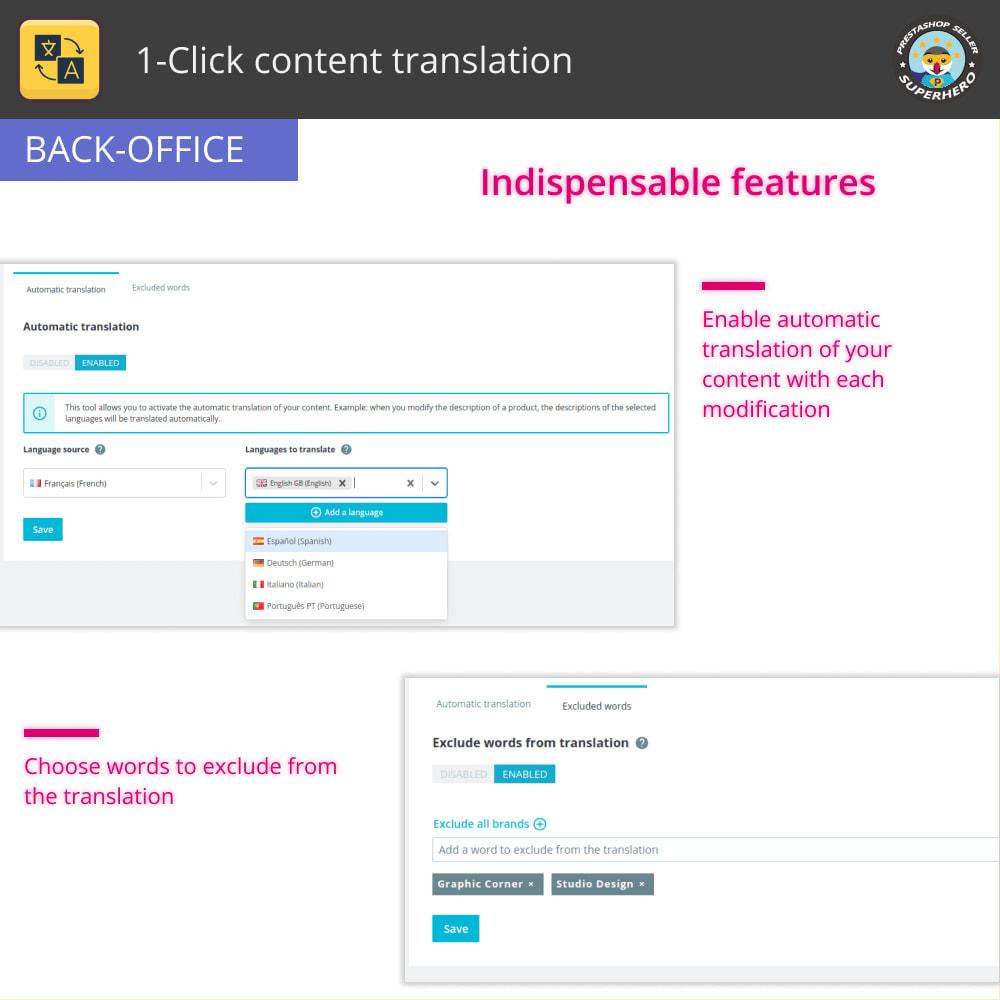 module - Międzynarodowość & Lokalizacja - Przetłumacz treść: Bezpłatne nieograniczone tłumaczenie - 6