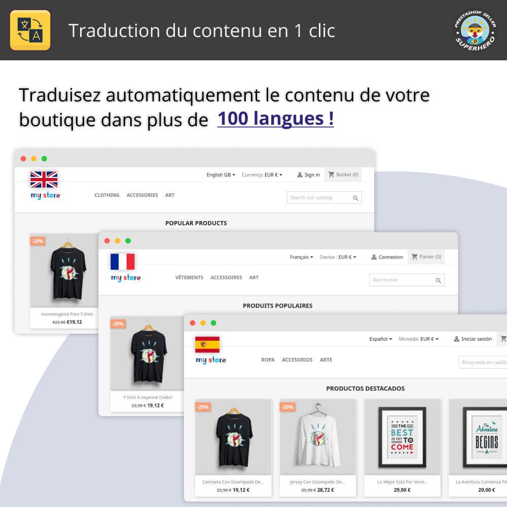 module - International & Localisation - Traduire le contenu - Traduction gratuite et illimitée - 1