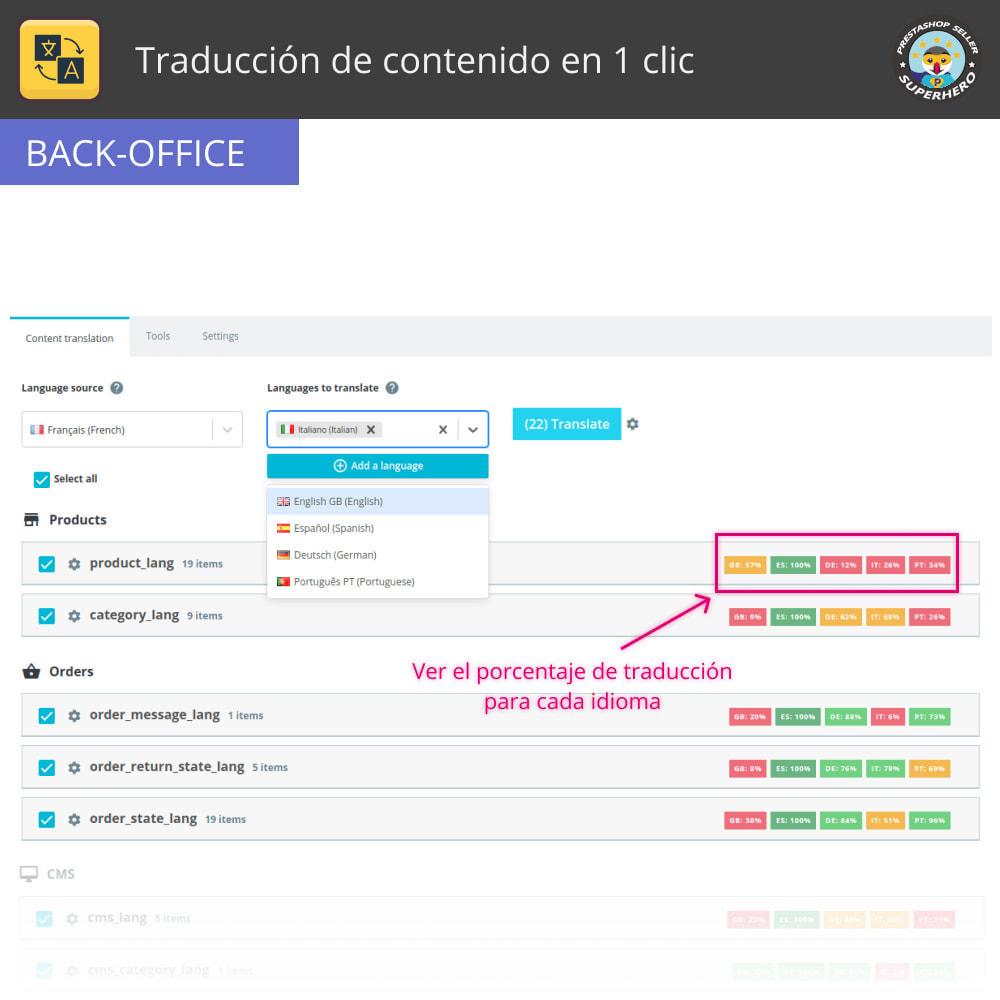 module - Internacionalización y Localización - Traducir contenido - Traducción gratuita e ilimitada - 3