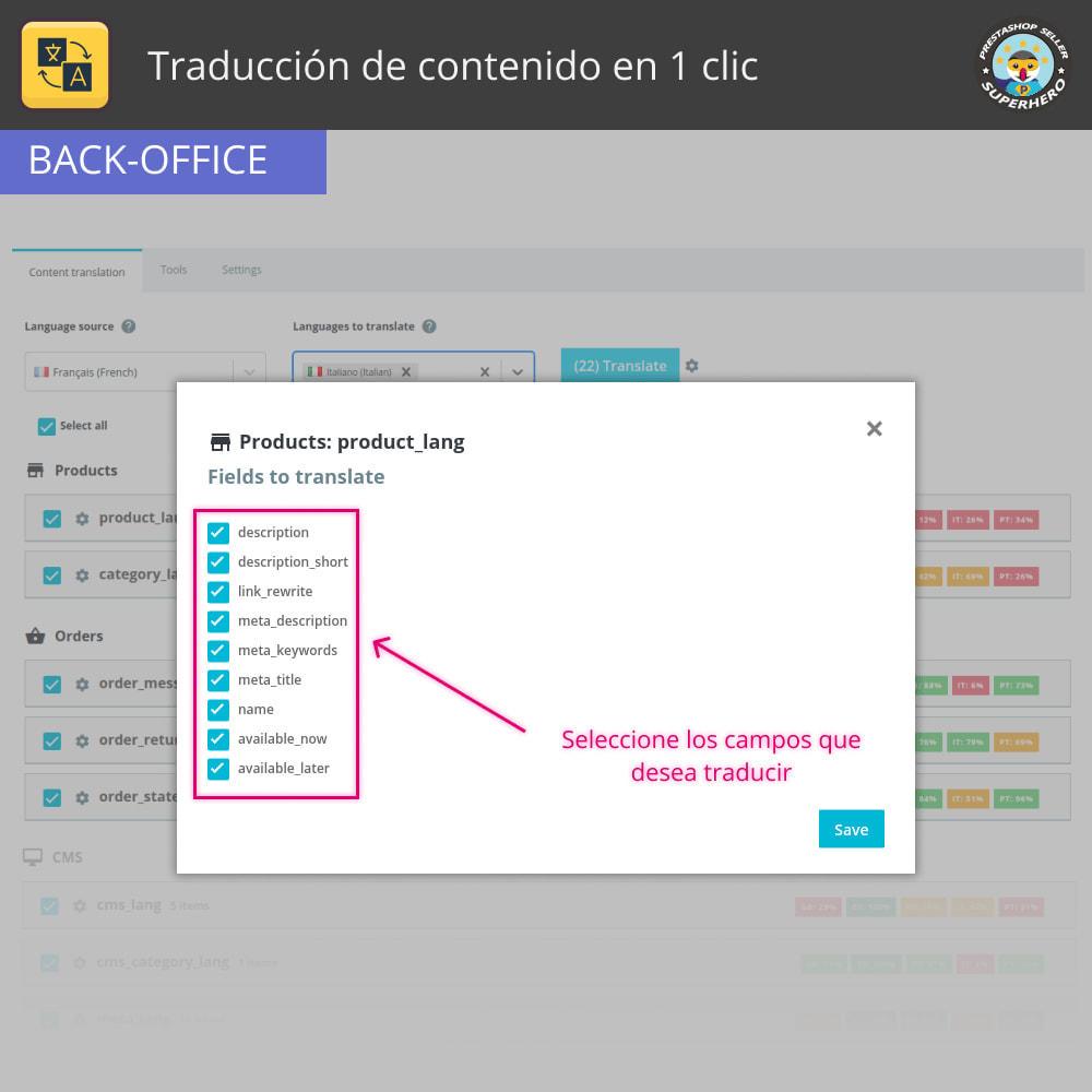 module - Internacionalización y Localización - Traducir contenido - Traducción gratuita e ilimitada - 4