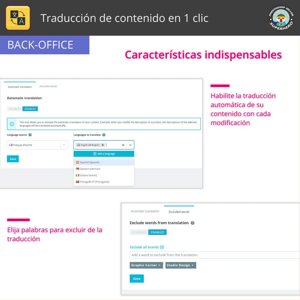 module - Internacionalización y Localización - Traducir contenido - Traducción gratuita e ilimitada - 6
