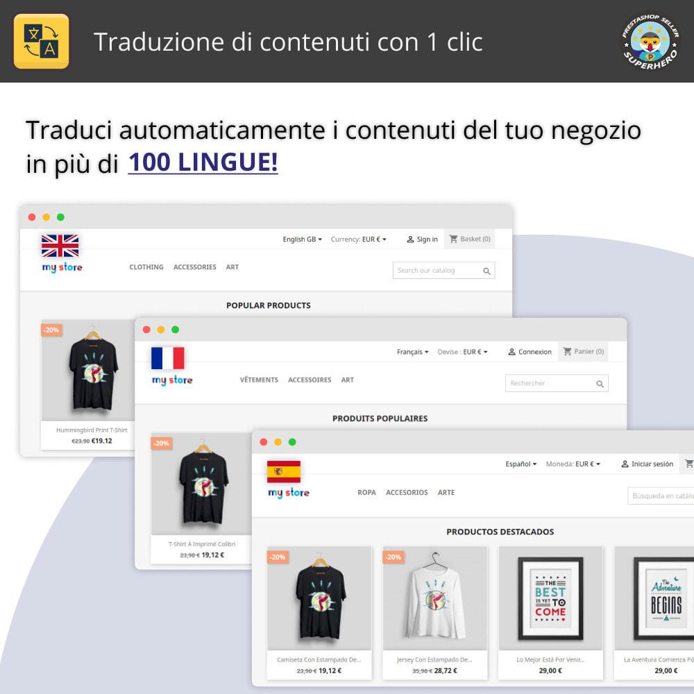 module - Lingue & Traduzioni - Traduci contenuto - Traduzione illimitata e gratuita - 1