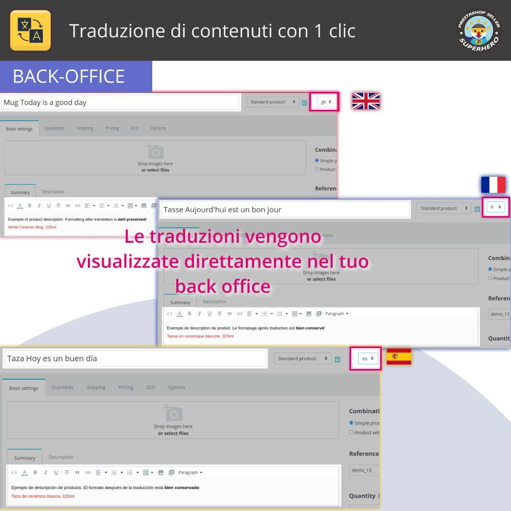 module - Lingue & Traduzioni - Traduci contenuto - Traduzione illimitata e gratuita - 5