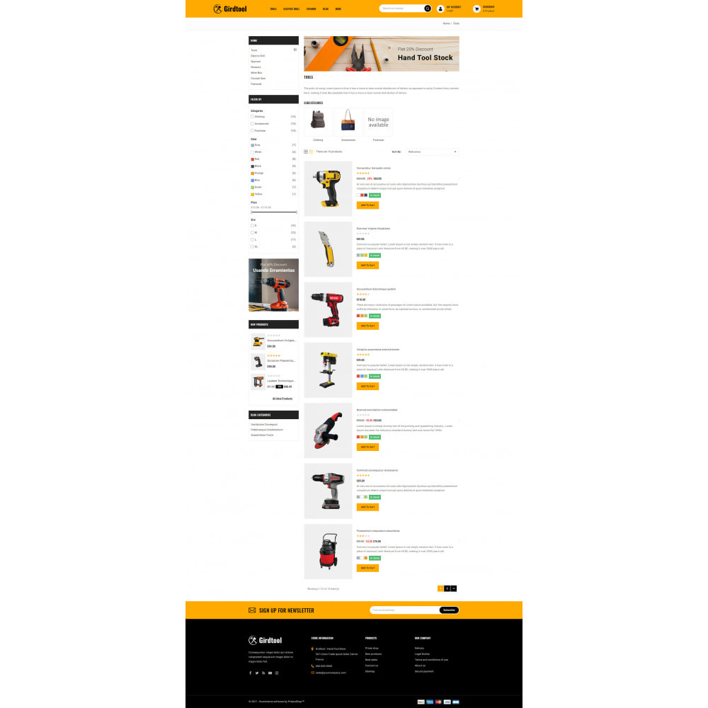 theme - Авто и Мото - Gridtool - Hand Tool Store - 4