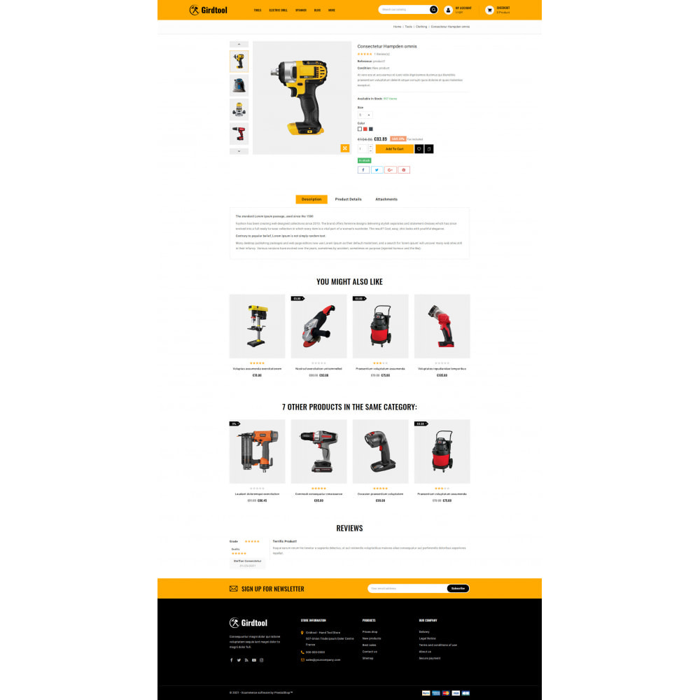 theme - Авто и Мото - Gridtool - Hand Tool Store - 5