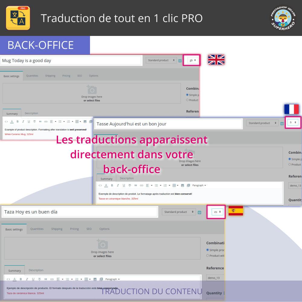 module - International & Localisation - Traduire tout - Traduction gratuite et illimitée - 5