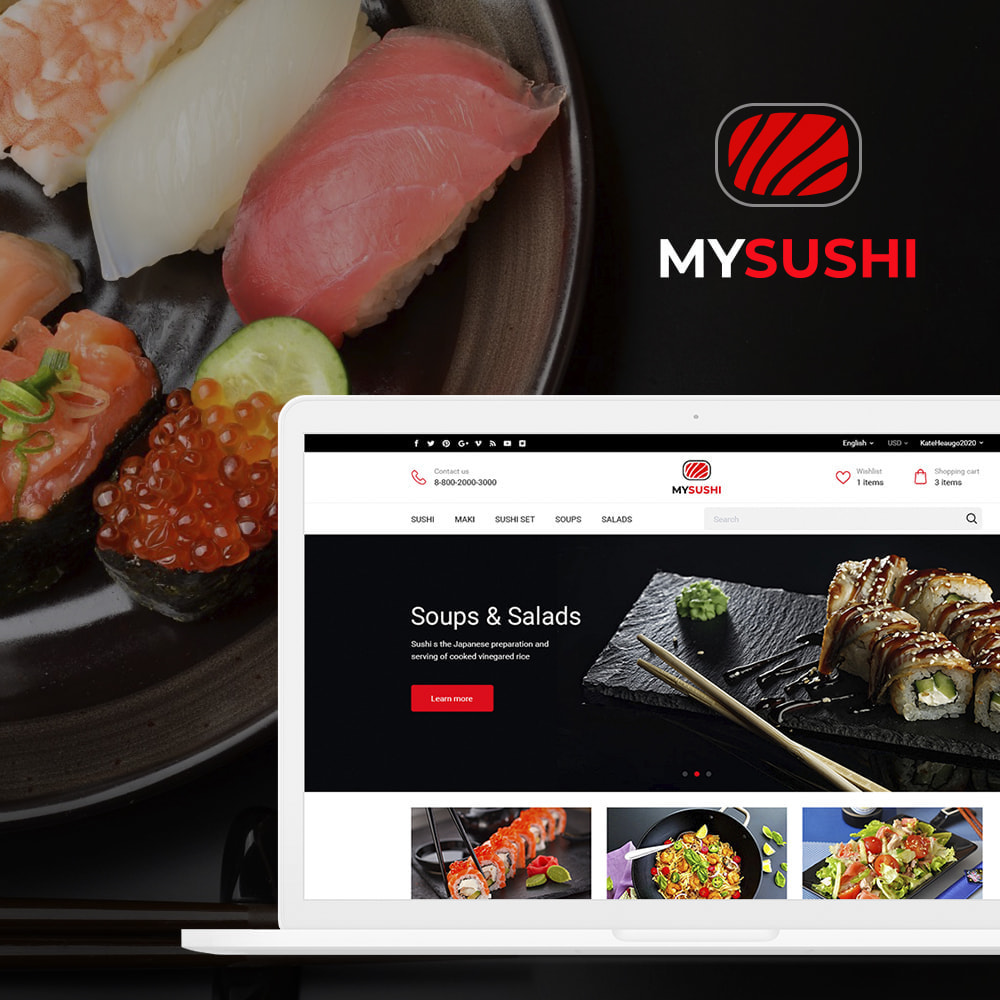 theme - Żywność & Restauracje - My Sushi - 1