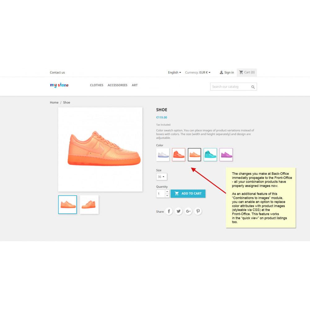 module - Вариаций и персонализации товаров - Привязывание комбинаций продукта к изображениям - 9