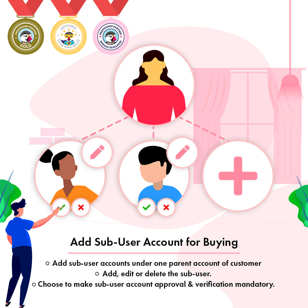 module - Social Login & Connect - Add Sub-User Account for Buying - 1