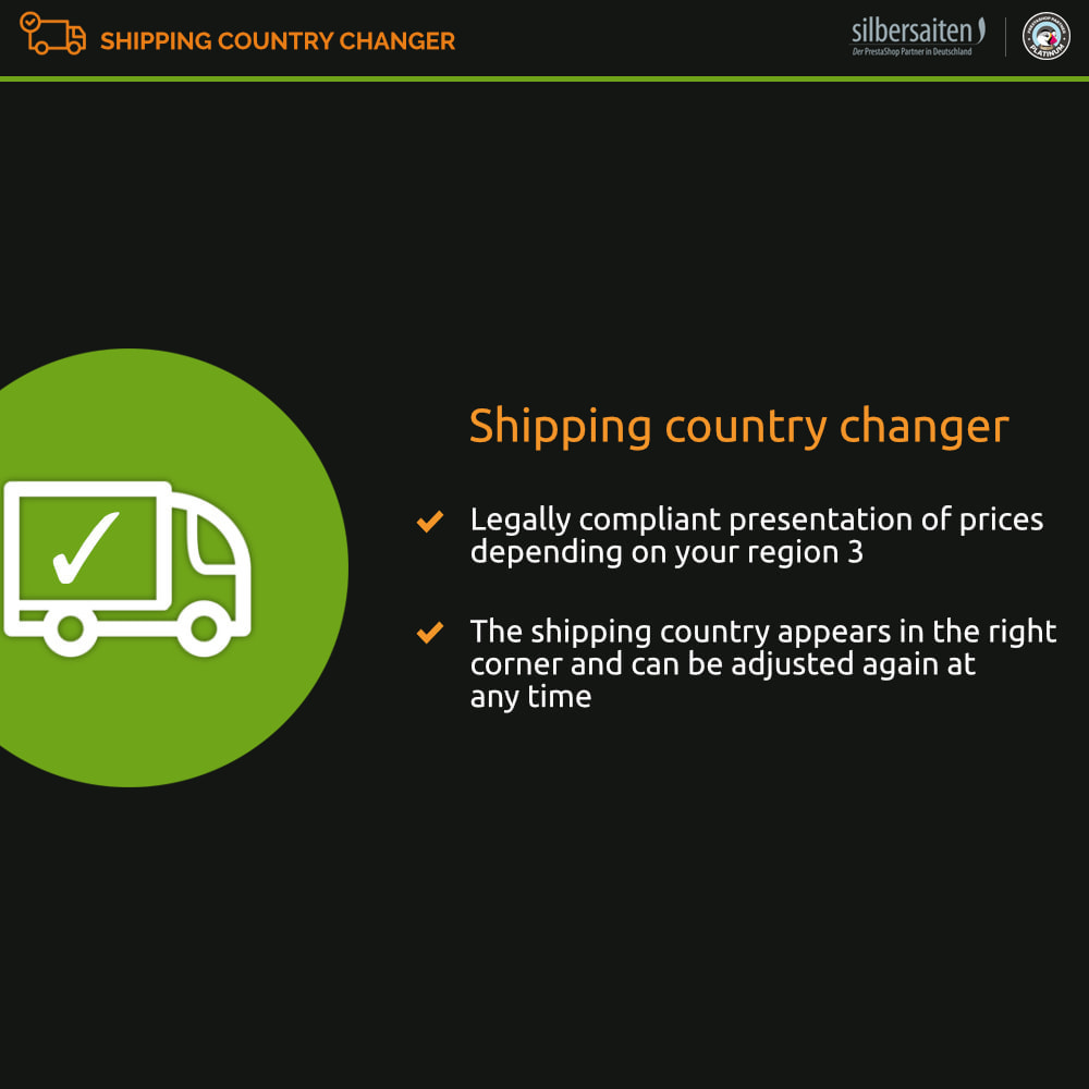 module - Shipping Costs - OSS Delivery country selection - 1