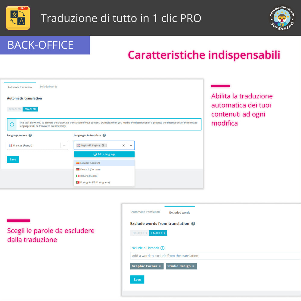 module - Lingue & Traduzioni - Traduci tutto - Traduzione illimitata e gratuita - 13
