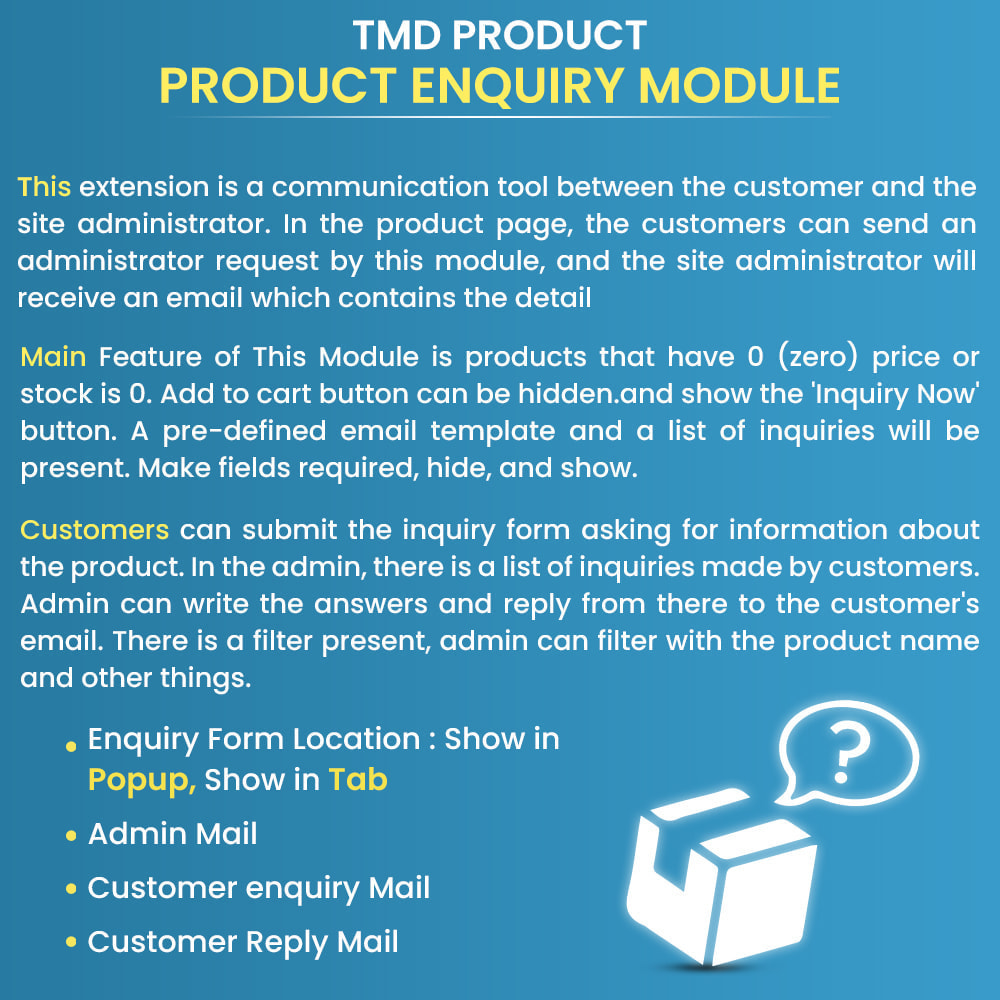module - Administration - Product Enquiry - 1