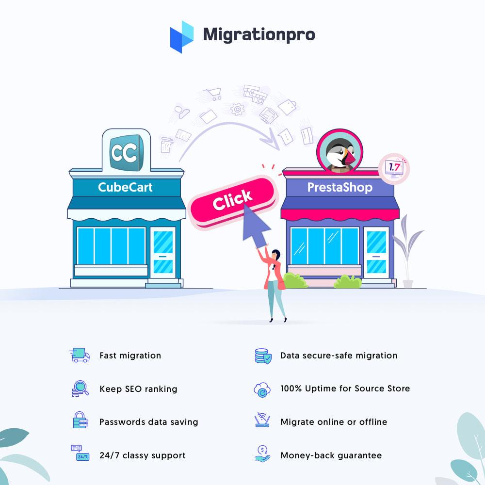 module - Migration de Données & Sauvegarde - MigrationPro: CubeCart to PrestaShop Migration tool - 1