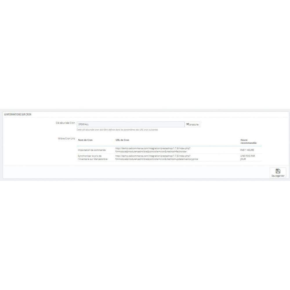 module - Connexion à un logiciel tiers (CRM, ERP...) - Intégration CedCommerce MercadoLibre - 4
